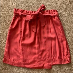 Pink LOFT Skirt with Bow